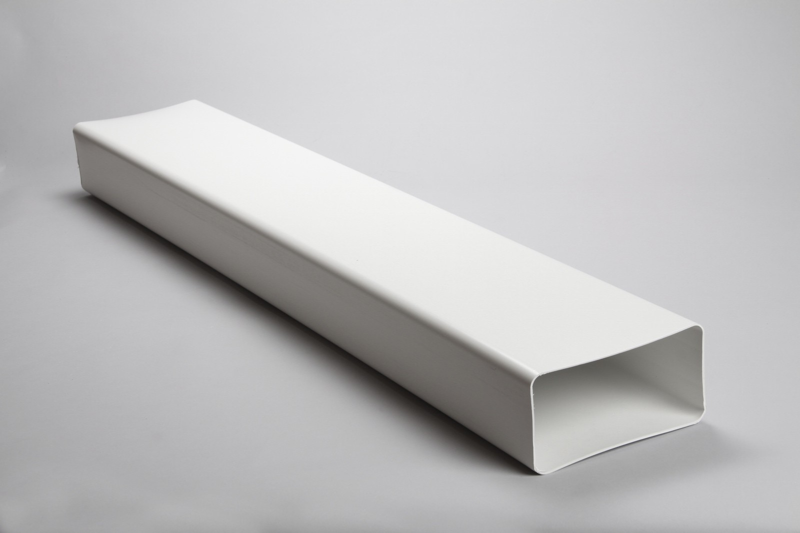 1 metre 220mm x 90mm rectangular flat channel megaduct ducting