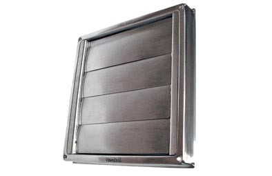 SS152 stainless steel gravity vent grille 150mm